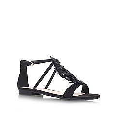 Nine West - Black 'Zirysa2' flat Sandals