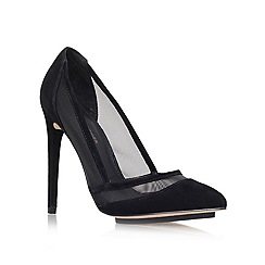KG Kurt Geiger - Black 'Harlow' high heeled Court shoe