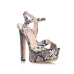 KG Kurt Geiger - Brown 'heidi' high heel platform sandals