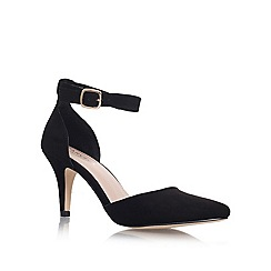 Carvela - Black 'Kandice' Mid heel ankle strap court shoes