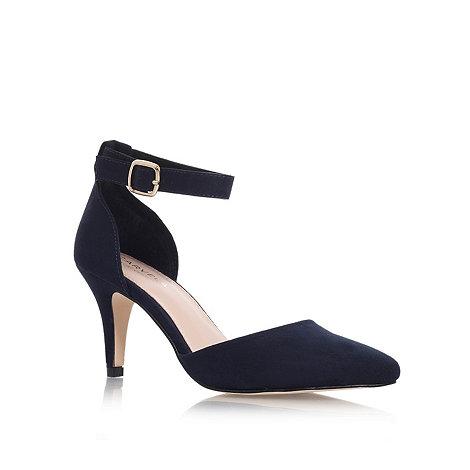 Carvela Navy 'Kandice' Mid heel ankle strap court shoes | Debenhams