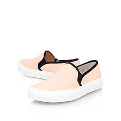 Carvela - Pale pink 'jackson' flat slip on trainer