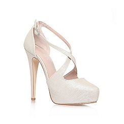 Carvela - Champagne 'KIMCHEE' High heeled platform strappy court shoe
