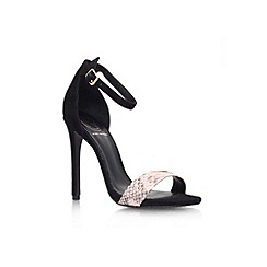 KG Kurt Geiger - Black and beige 'Joy' high heel sandal