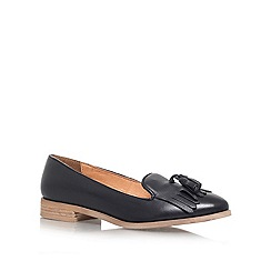 KG Kurt Geiger - Black 'LEYTON' Flat slip on loafer