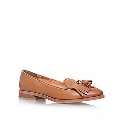 KG Kurt Geiger - Tan 'LEYTON' Flat slip on loafer