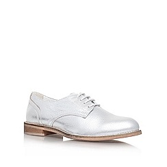 KG Kurt Geiger - Silver 'klyde' leather lace up shoe