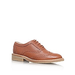 KG Kurt Geiger - Tan 'LAKER' Flat lace up brogue