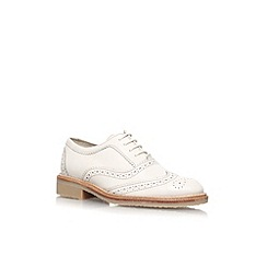 KG Kurt Geiger - Cream 'Laker' flat lace up brogue