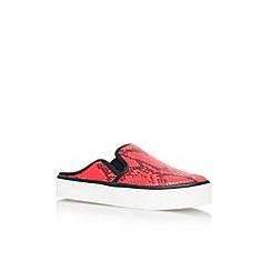Carvela - Red 'Lazy' flat slip on sneaker