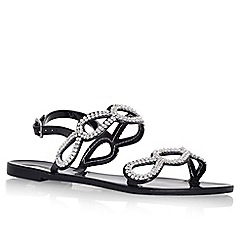 Lipsy - Black 'Morgan' flat embellished sandal