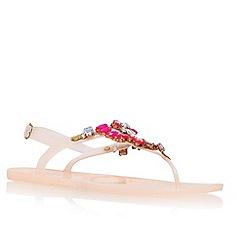 Lipsy - Nude 'Melanie' flat embellished sandal