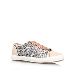Lipsy - Silver com 'Lidia' flat lace up sneaker