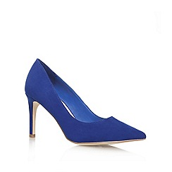 Miss KG - Blue 'agatha' high heeled court shoe
