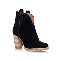 Nine West - Black 'cally' mid heeled ankle boot