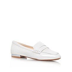 Nine West - Silver 'Linear8' Leather flat Shoe
