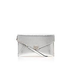 Nine West - Silver 'Rocklock clutch' bag