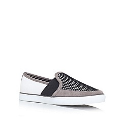 Nine West - Blk/Grey 'BONKERS7' Flat slip on sneaker