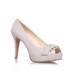 Nine West - Grey/Light 'CELESTINE' high heeled buckle detail peep toe court