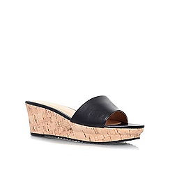 Nine West - Black 'CONFETTY' low wedge heel slip on sandal