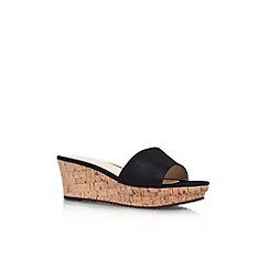 Nine West - Black 'Confetty' low wedge heel sandal