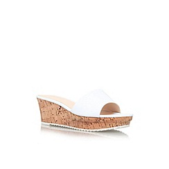 Nine West - White 'Confetty' mid wedge heel sandal