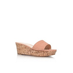 Nine West - Nude 'Confetty' low wedge heel sandal