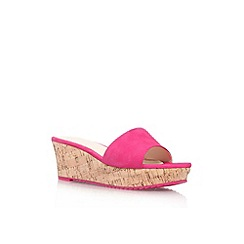 Nine West - Pink 'Confetty' mid wedge heel sandal