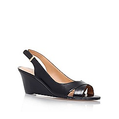 Nine West - Black 'perceive' wedge sling back shoe