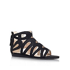 Nine West - Black 'turntable' flat leather  sandal