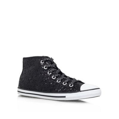 Black ´CT Dainty Spar´ glitter converse trainer - . -