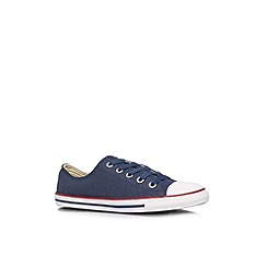 Converse - Navy 'CT dainty spar low' flat low top trainer