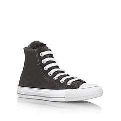 Converse - Grey 'CT Fun Fur' Lace up