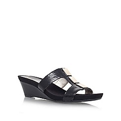 Anne Klein - Black 'HUNEE3' Low wedge heeled sandal