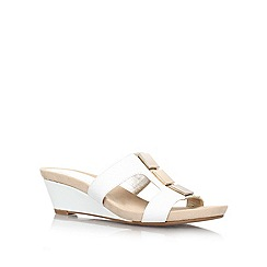 Anne Klein - White 'HUNEE3' Low wedge heeled sandal
