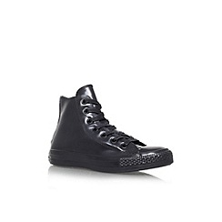 Converse - Black 'ct rubber hi' lace up trainer