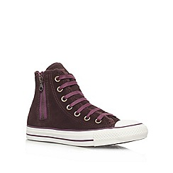 Converse - Red 'Ct Sue She Hi' Flat hi Tops