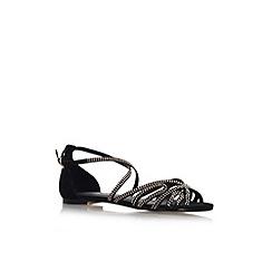 Miss KG - Black 'Maci' flat strappy sandal