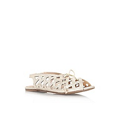 Miss KG - Gold 'Marley' flat lace up sandal
