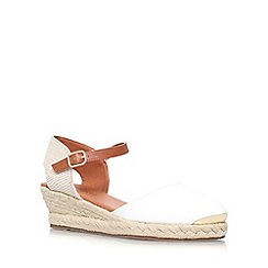 Miss KG - White 'Lea' low wedge sandal
