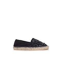 Miss KG - Black 'Jemima' flat slip on espadrille