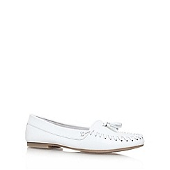 Miss KG - White 'Nixon' flat slip on loafer