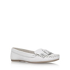 Miss KG - White 'Nixon' flat loafers
