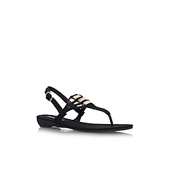 Miss KG - Black 'Louise' flat strappy sandal