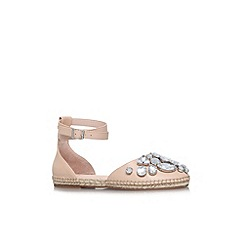KG Kurt Geiger - Nude 'Moonstone' flat embellished sandal