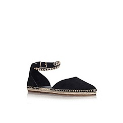 KG Kurt Geiger - Black 'Magma' flat sandal