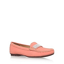 Carvela Comfort - Orange 'claudia' flat slip on loafer