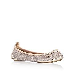 Miss KG - Gold 'Mia' Flat Shoe