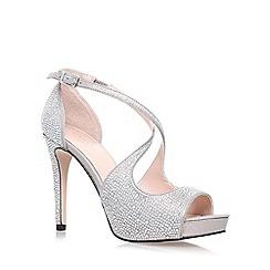 Carvela - Silver 'Gift' high heel strappy sandal