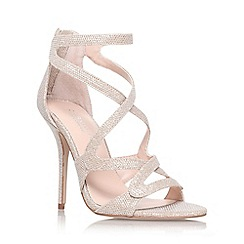Carvela - Gold 'Grove' high heel strappy sandal